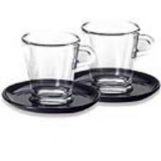 Набор стеклянных чашек с блюдцами Nespresso для лунго