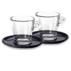 Набор стеклянных чашек с блюдцами Nespresso для эспрессо